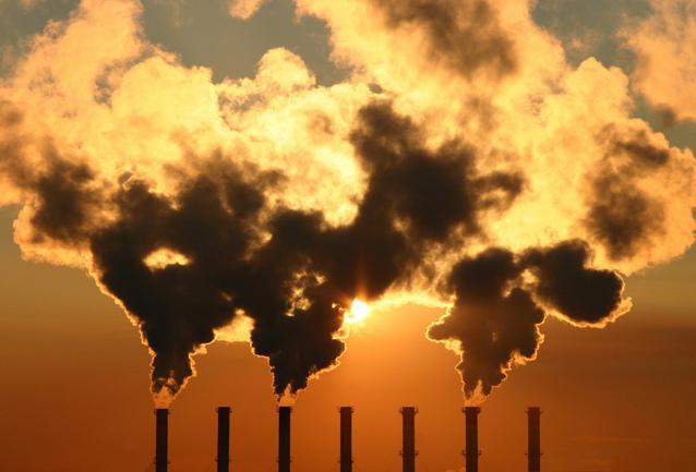 Air pollution sky